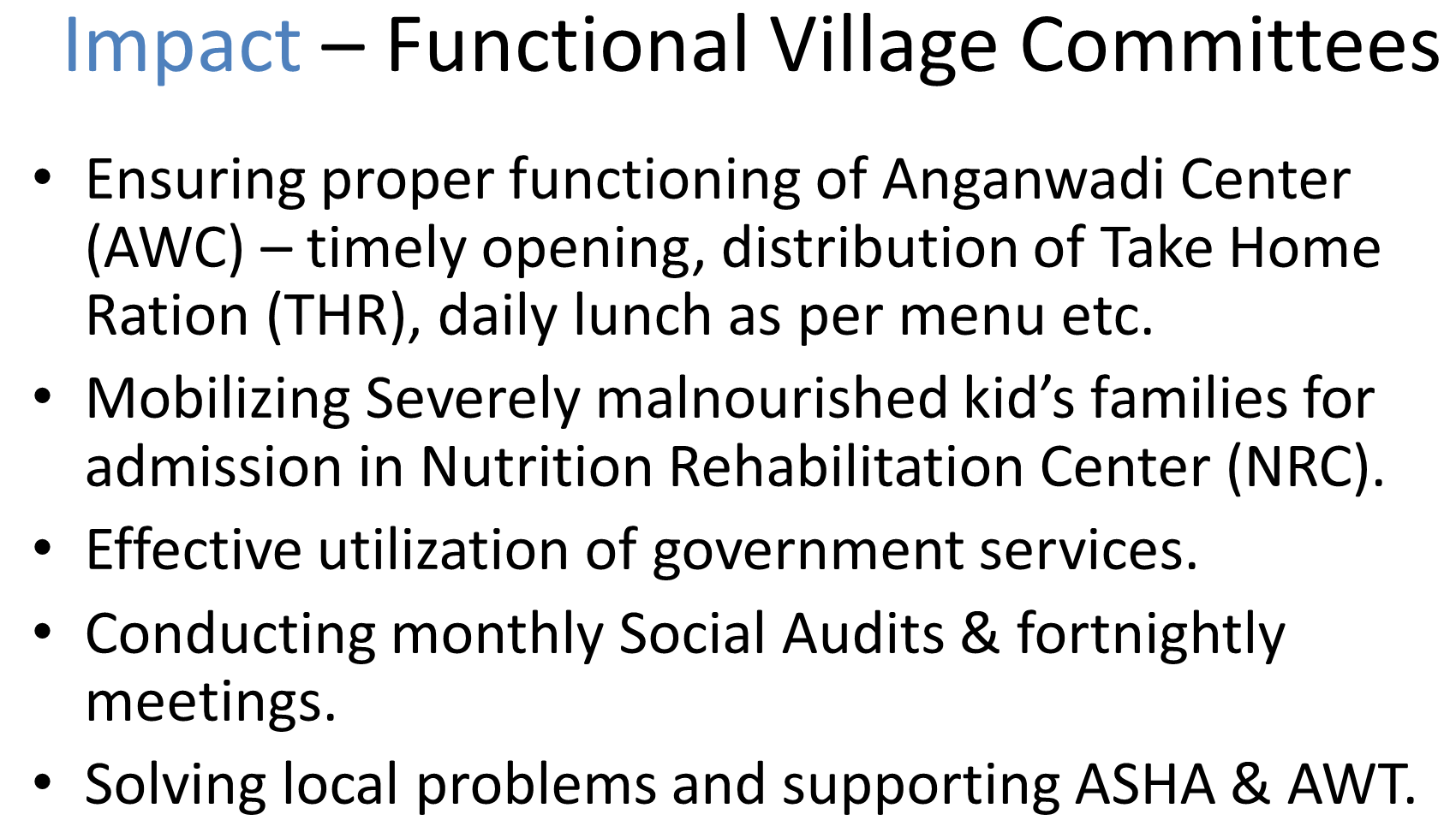 Impact-Functional Village Committees